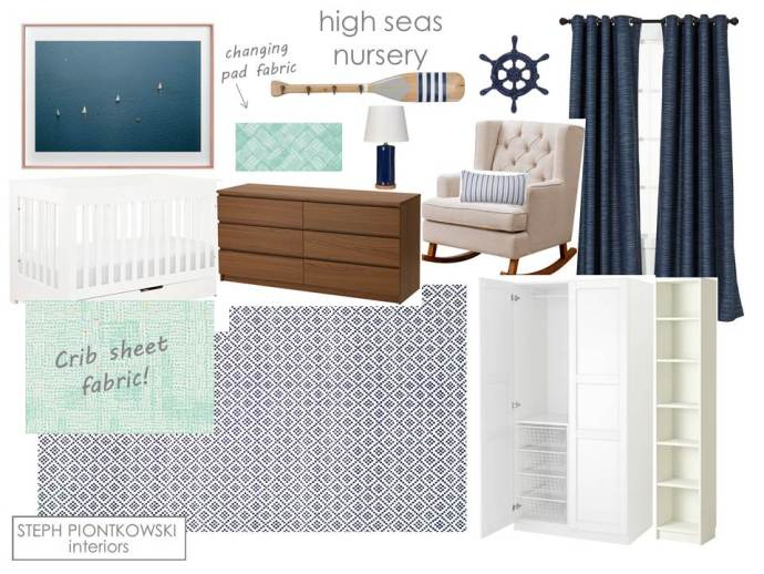 Steph Piontkowski Interiors High Seas Nursery Moodboard