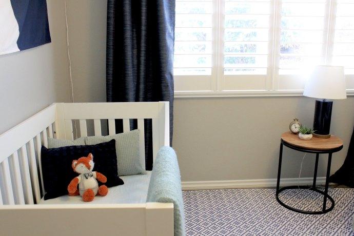 Steph Piontkowski Interiors High Seas Nursery Crib