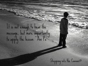 little boy at beach