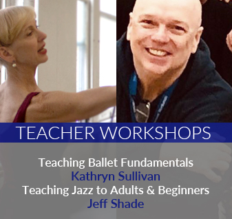 Teacher Workshops, teaching basic ballet and beginner jazz