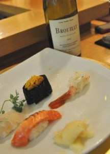 brouilly+sushi