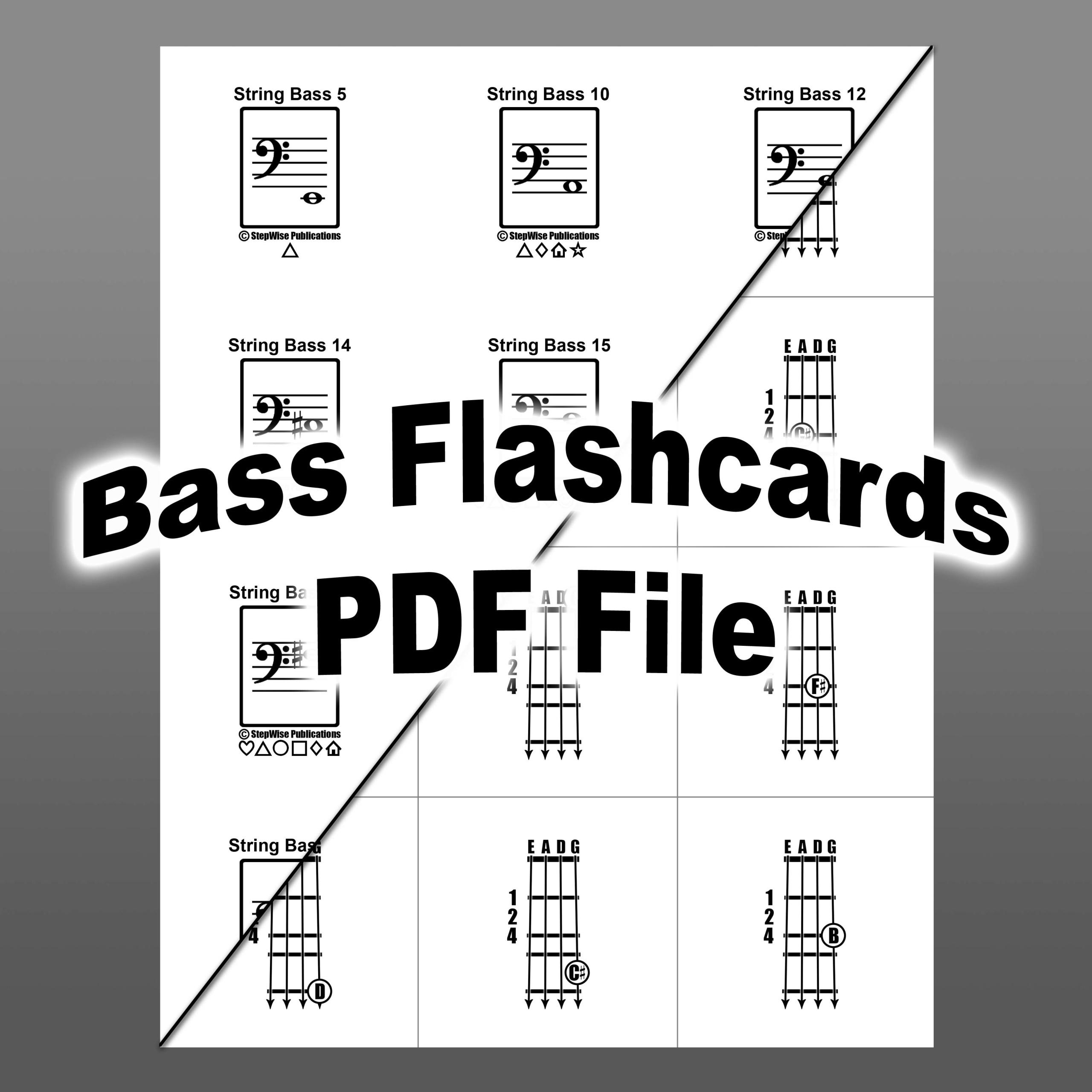 Bass Printable Flashcards