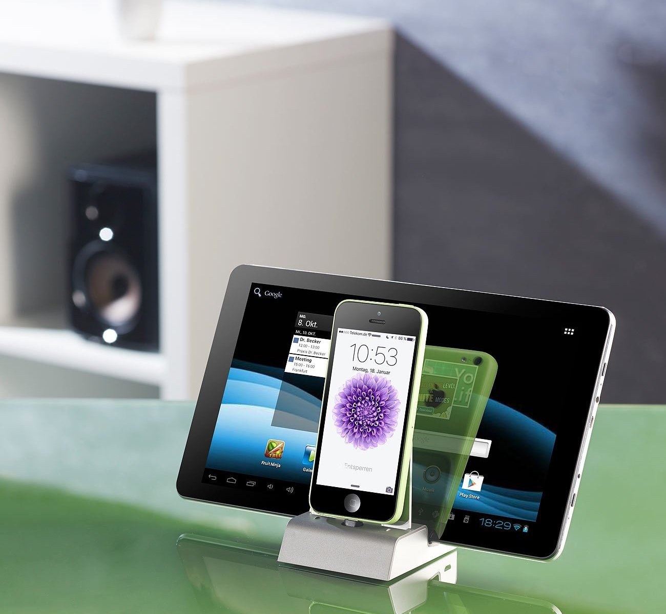 Callstel iPhone Docking Station mit Bluetooth,