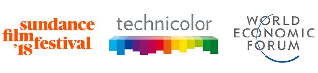 Sundance, Technicolor, Davos logos