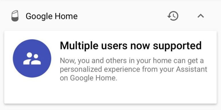 Es kommt der Multi-User Support für Google Home