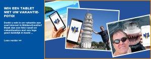 Win een tablet met uw vakantiefoto!