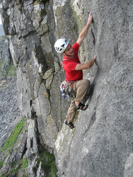 Jon enjoying the slab of Prest on Up