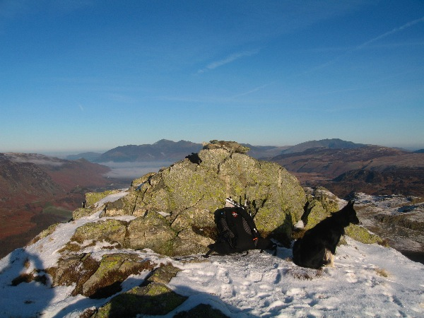 Rosthwaite Fell with Borrowdale and Skiddaw beyond