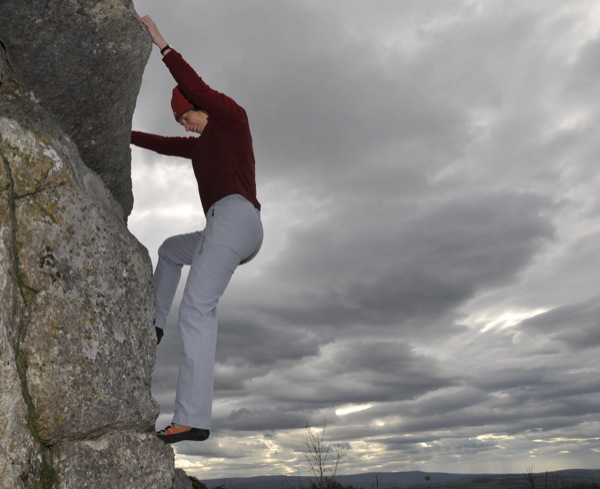 A moody sky gathering beyond Crack Climb, VD