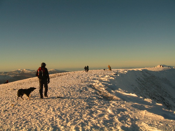 Approaching the summit of Helvellyn