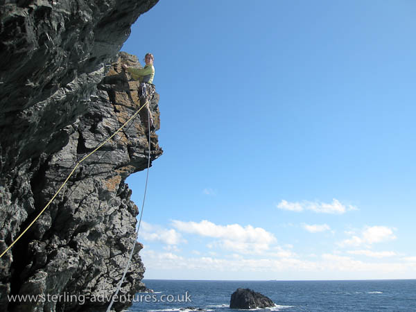 Laetitia leads out the impressive traverse of Sirius