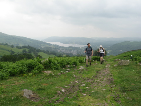 The walk up from Ambleside