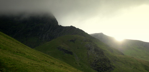 Lowering cloud on Foule Crag