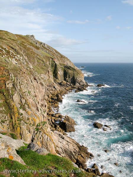 Lundy's western coastline