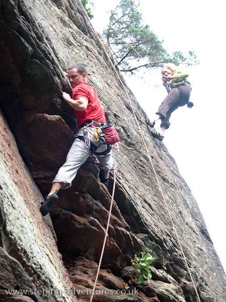 Jon tackling one of the French routes at Wachtfels