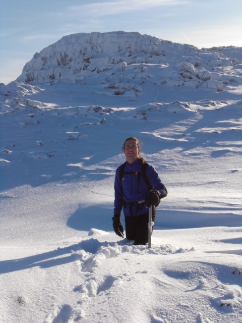 Deep snow on the way to Harrison Stickle