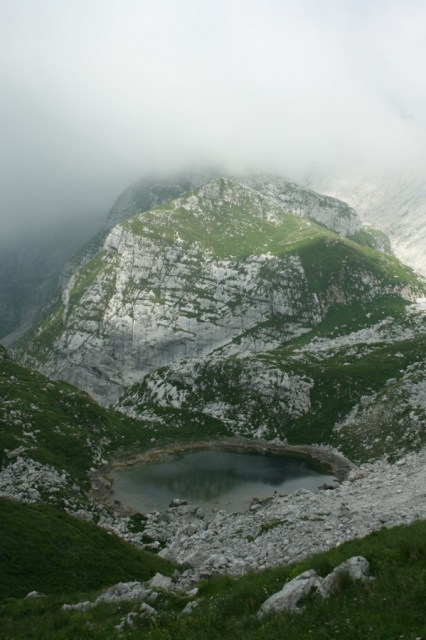 Alpine lake on the flanks of Krn.