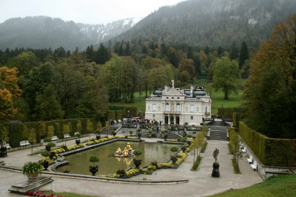 The Linderhof palace, built for King Ludwig II (he of Neuschwanstein Castle).