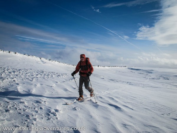 Pete skinning up Kentmere Pike