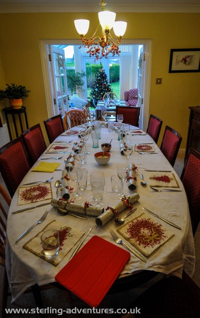 The Christmas table - as is tradition, children were relegated to a smaller table in the conservatory.