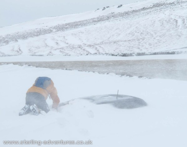 The road up to Stanage was definitely not passable by car!