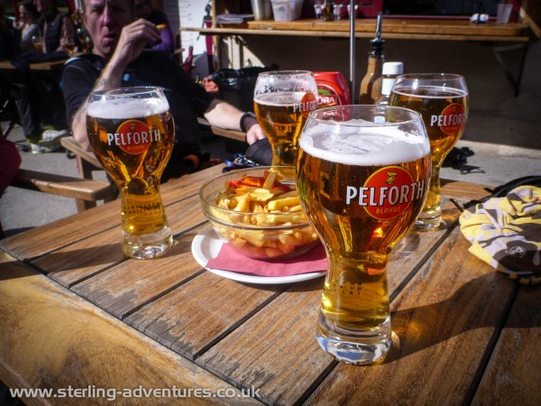 We thought we'd earned a beer and chips when we got back to Chamonix!