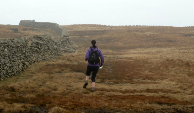 .....and continues towards High pike. She took some catching!