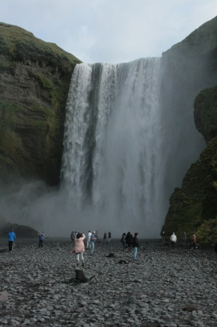 The Skogafoss waterfall, where our hike began and ended.