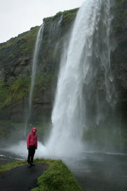 Seljalandsfoss in the rain.