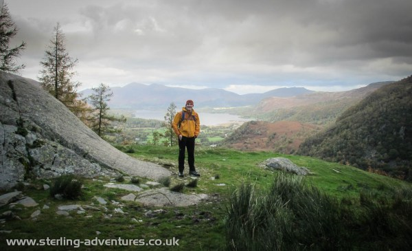 Looking back towards Keswick, where little rays of sunshine were still to be seen!