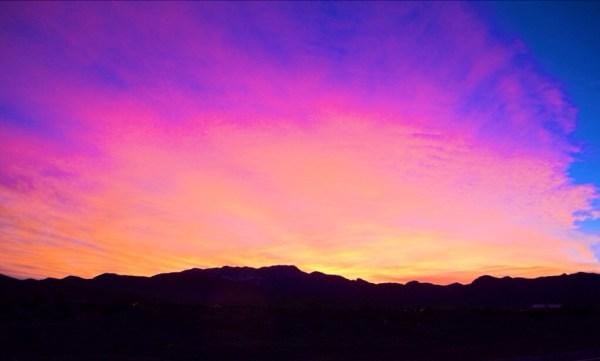 Amazing sunset over Red Rocks