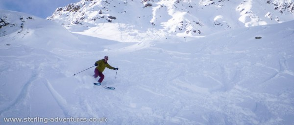 Laetitia cruising the powder