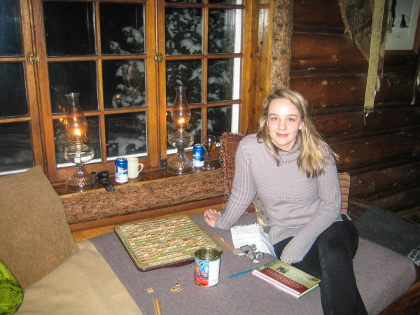 Here inside Skoki Lodge itself with it's famed Dining Room (the food was to die for).