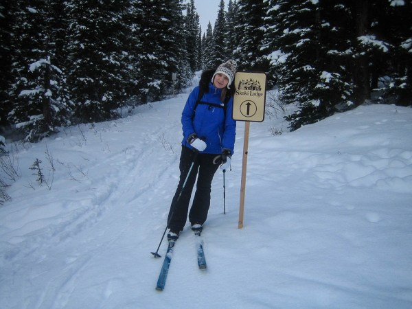 A shot of Amy on the return from Skoki Lodge