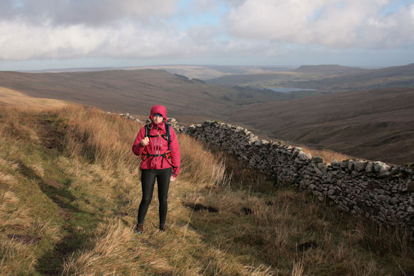 The long descent to Semer Water behind me