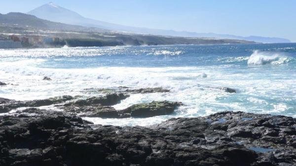 Here is the lava beach at Punta del Hildago in the north west of the island. As with most places on the island, El Teide, the volcano, looks on.