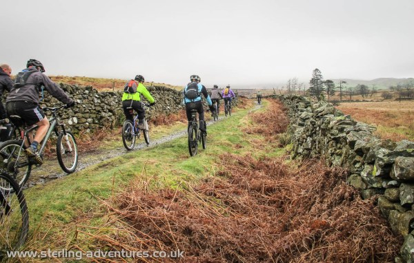 Single-track mountain biking in Kentmere