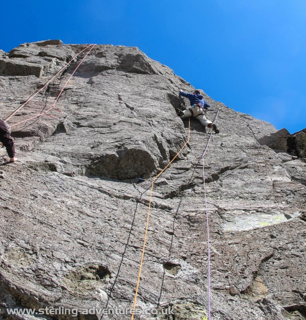 Pete on Touch and Go at Black Crag Wrynose