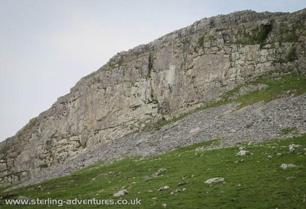 The delightful limestone sport climbing at Robin Proctor's Scar