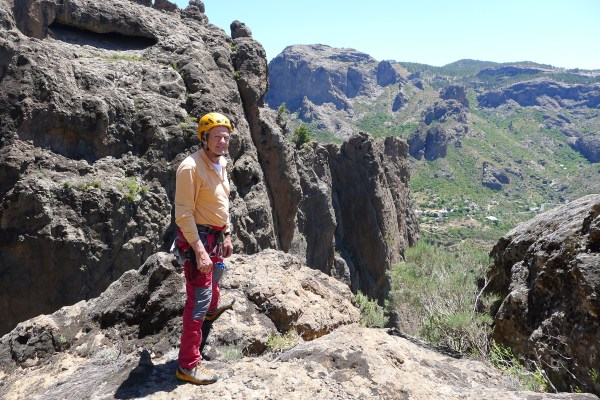 Terry admires the never ending expanse of crags from the top.