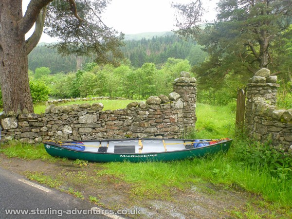 Getting the boat out of the water wasn't as easy as it should have been - we have to lift the boat over a stone wall and respectfully sneak through a cemetery