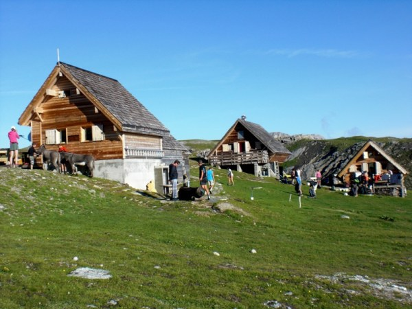 The Refuge de la Valetta, with the donkeys used to haul all the food up there.