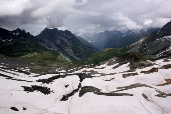 Looking towards Peclet Polset from the top of Col de Chaviere.