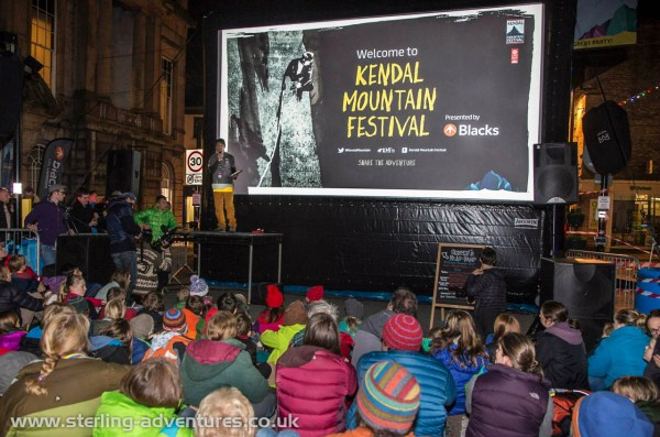 Open-air opening ceremony of the Kendal Mountain Festival