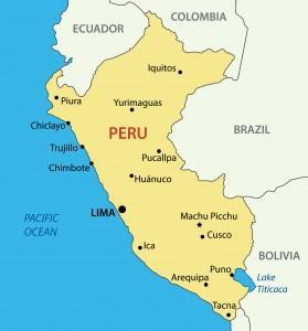 Trujillo, on the north west coast of Peru