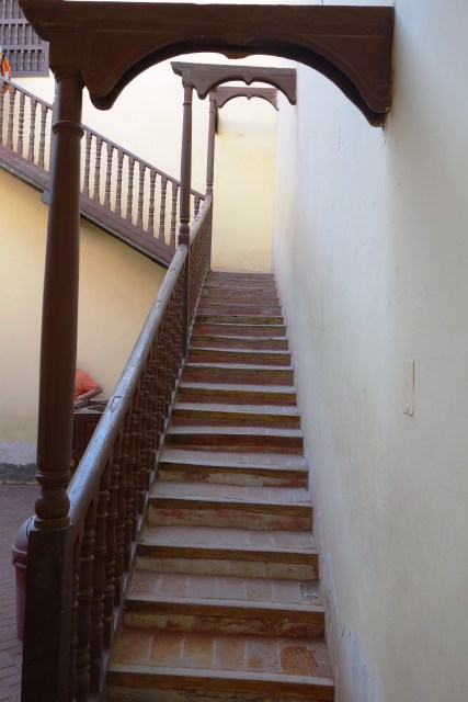 Stairs from the central courtyard of La Casa de la Logia Masónica