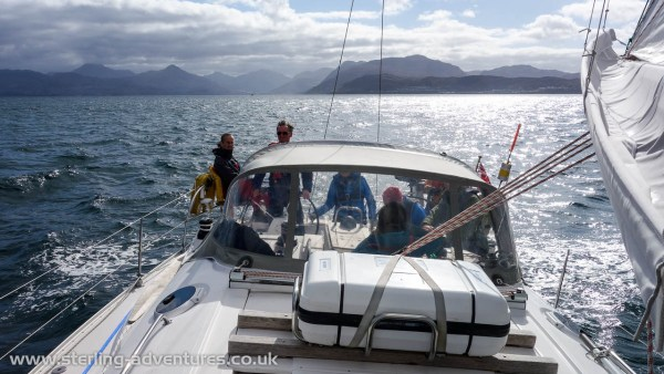 "Aboard our floating ""caravan"" the Countess of Sleat"