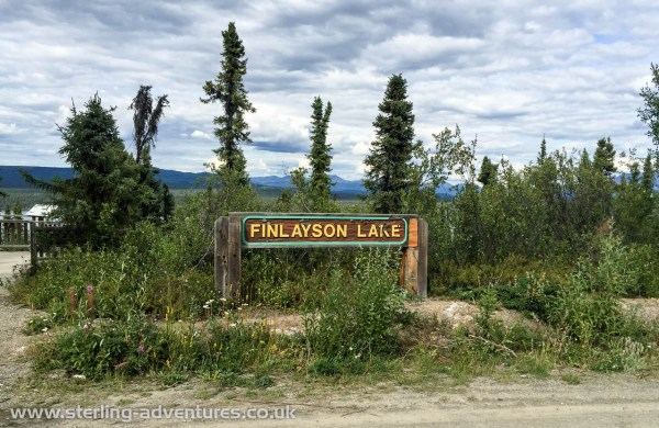 A seven hour drive from Whitehorse saw us arriving at Finlayson Lake