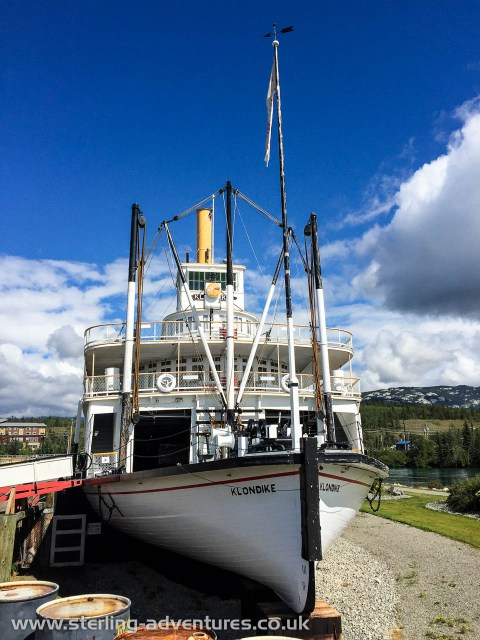 The steam paddle boat, the Klondike, is a interesting (and free) tourist attraction Whitehorse with loads of information linking back to the Yukon gold-rush and how the Whitehorse - Yukon River - Dawson City frontier was developed
