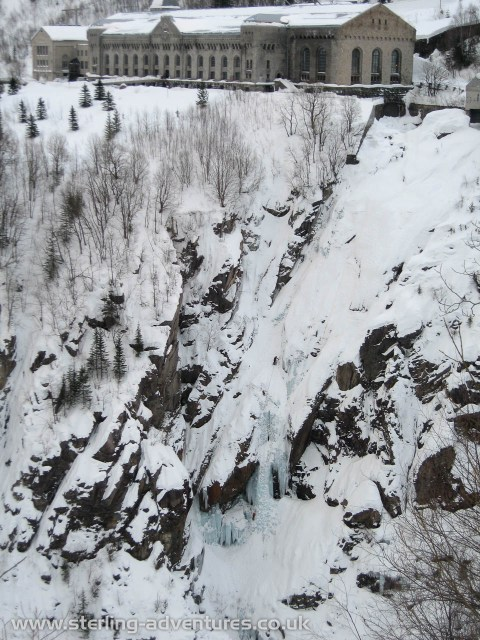 The Upper Gorge with Nye Vermorkfoss clearly visible below the heavy-water plant (now a museum)
